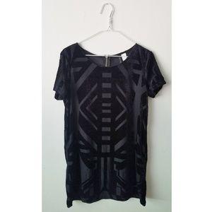 NWOT H&M Black Geo Print Mini Dress